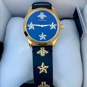 Authentic GUCCI Bee & Star Leather Watch 🐝🌟
